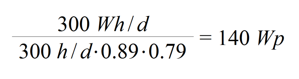 Berechnung benötigte Leistung